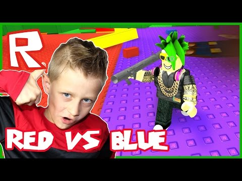 Roblox Red VS Blue VS Green VS Yellow / Destroying The Colors