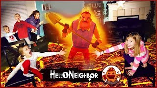 Hello Neighbor In REAL LIFE as Lava Monster GAME! | Floor is Lava Monster Hello Neighbor Game!