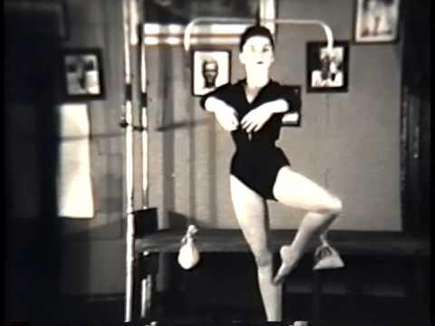 Anna Woolley Shaffer doing Pilates at Joseph Pilates studio, NYC 1953