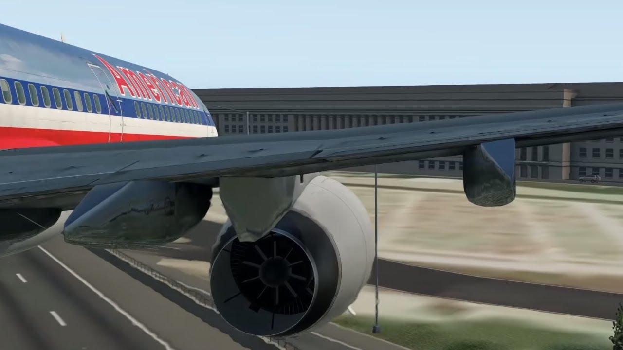 9/11 | AA Flight 77 - Crash Animation [X-Plane 11]