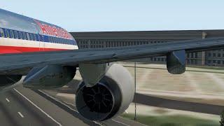 9/11   AA-Flug 77 - Crash-Animation [X-Plane 11]