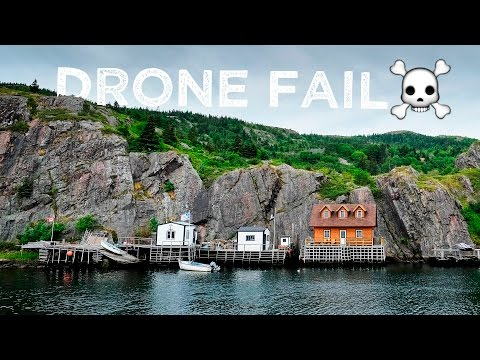 Drone fail in St. John's, Newfoundland
