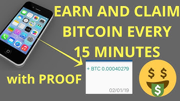 Earn and Claim Free Bitcoin using mobile phone with proof of payment!