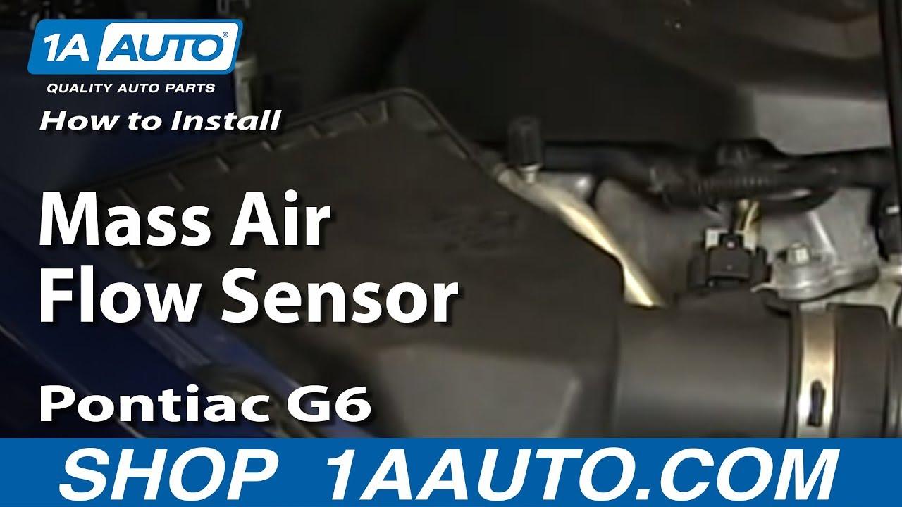 how to replace air flow meter sensor 05 10 pontiac g6 2 4l 4 cyl [ 1280 x 720 Pixel ]