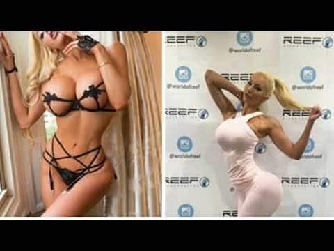 Nicolette Shea|| Brazzer girl || live|| sexy boobs and ass show in the market || golden dress|| 2k18 thumbnail