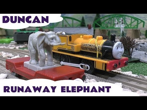Thomas & Friends DUNCAN from Thomas Episode The Runaway Elephant for Trackmaster Tomy Toy Train