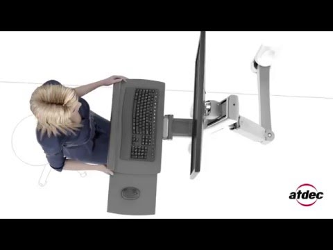 Atdec A-STSWW wall mounted sit-to-stand workstation