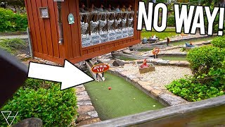 WE HAVE NEVER WON THIS AT A MINI GOLF COURSE BEFORE! - DOUBLE MINI GOLF HOLE IN ONE!