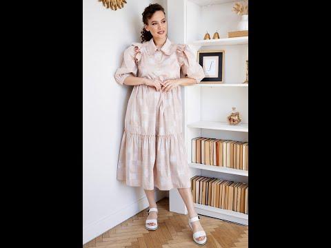 Легкое летнее платье Мода-Юрс модель 2662 bezh