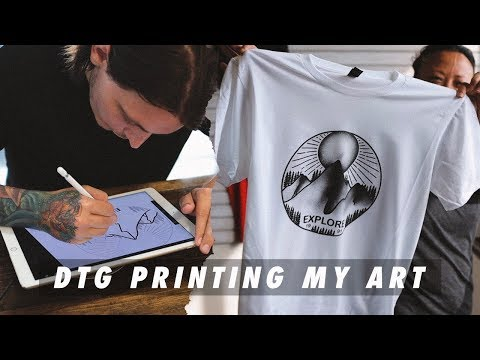 Printing My Art With A DTG Printer
