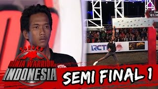 M.Darwis 'Gelantungan Di Monkey Peg' [Sasuke Ninja Warrior Indonesia] [13 Mar 2016]