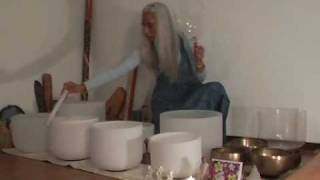 The healing sound of crystal singing bowls