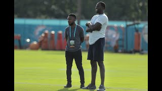 Draymond Green visits Dolphins camp