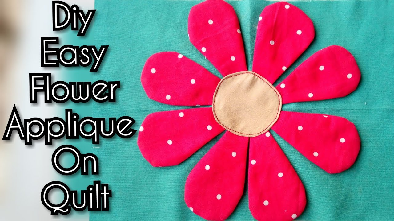 Flower Applique Quilt Patterns Simple Decoration
