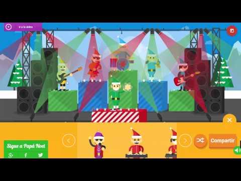 Google Santa Tracker Music Jam Band w/ Justin Bieber