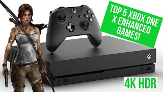 TOP 5 XBOX ONE X ENHANCED GAMES! BEST XBOX 4K HDR GAMES 2018!