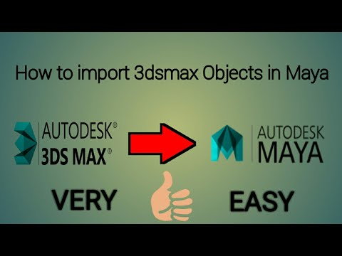 How To Import 3Ds Max Objects In MAYA