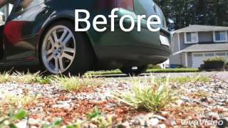 VW Golf 1.8t Exhaust: Before and After