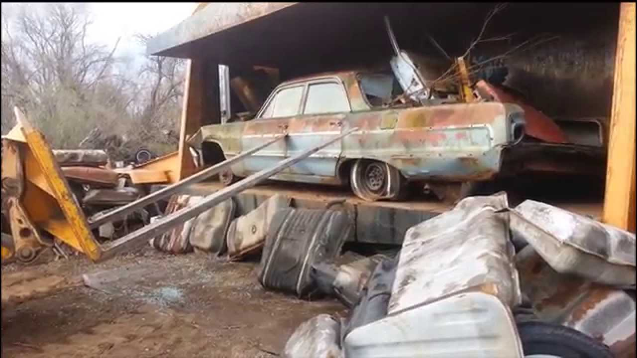 Car Crusher Crushing Cars 5 1964 Impala Youtube