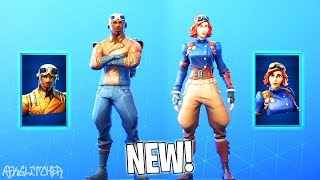 "NEW SKINS ""AS OF MANCHE"" (New Aviation Skins)! Fortnite Battle Royale"