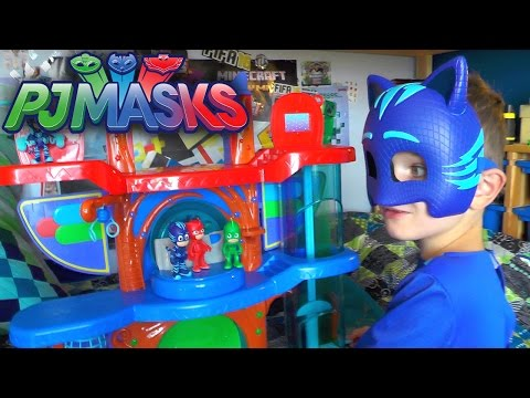 PJ Masks Toy Headquarters Luna Girl Attack - HQ Playset Review