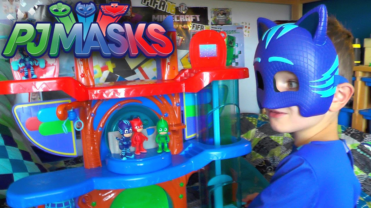 Pj Masks Toy Headquarters Luna Girl Attack Hq Playset Review Youtube