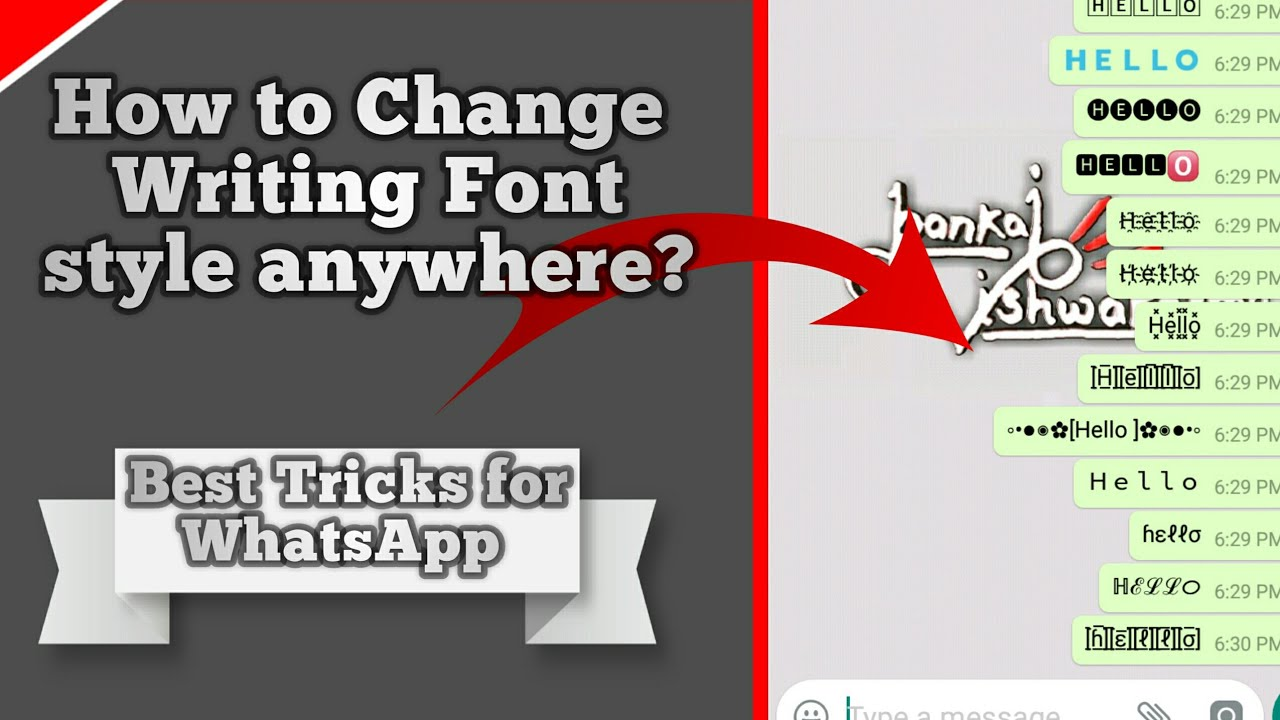How To Change Font Style Of Writing Text | WhatsApp Tricks