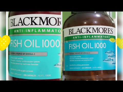 WHAT IS BLACKMORES ANTI INFLAMMATORY | FISH OIL 1000