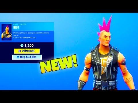 "NEW! RIOT SKIN ""Male Power chord"" (New Item Shop) Fortnite Battle Royale"