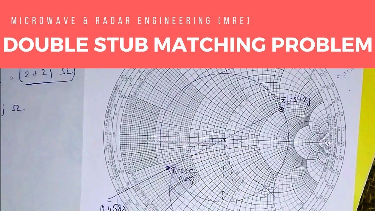 Smith Chart - Double Stub Matching Problem & Solution (Microwave & Radar  Engineering)
