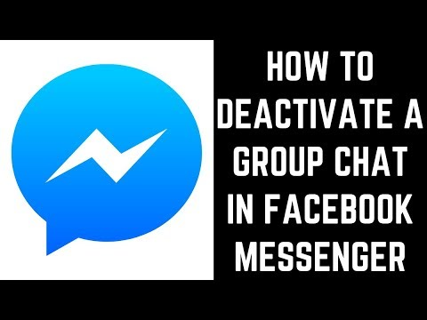 How to Deactivate a Group Chat in Facebook Messenger