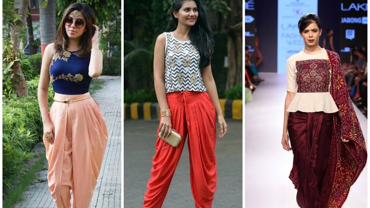 9b91dd875a66ac Beautiful Dhoti pants   crop tops - YouTube