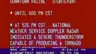 vuclip Tornado Warning - Racine, WI 1-7-08