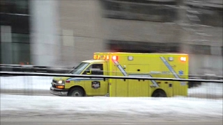 AMBULANCES RESPONDING IN MONTREAL