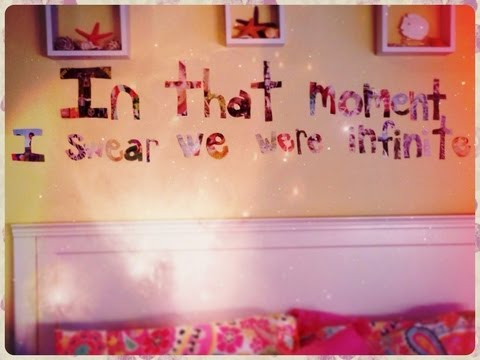 Diy room decor quote cutout by niki youtube for Diy room decor ideas you never thought of