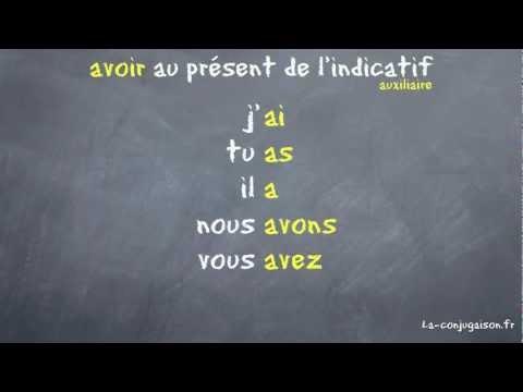 avoir au présent de l'indicatif - La-conjugaison.fr