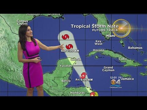 Tropical Storm Nate Lashing Northeast Nicaragua
