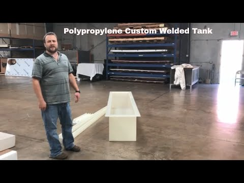 Polypropylene Custom Welded Tank