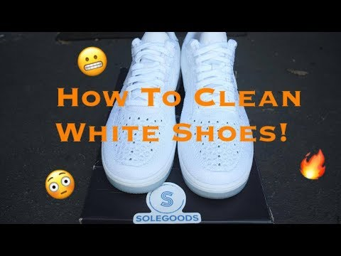 How To: Clean All White Flyknit/Mesh Shoes! | @solegoodspdx