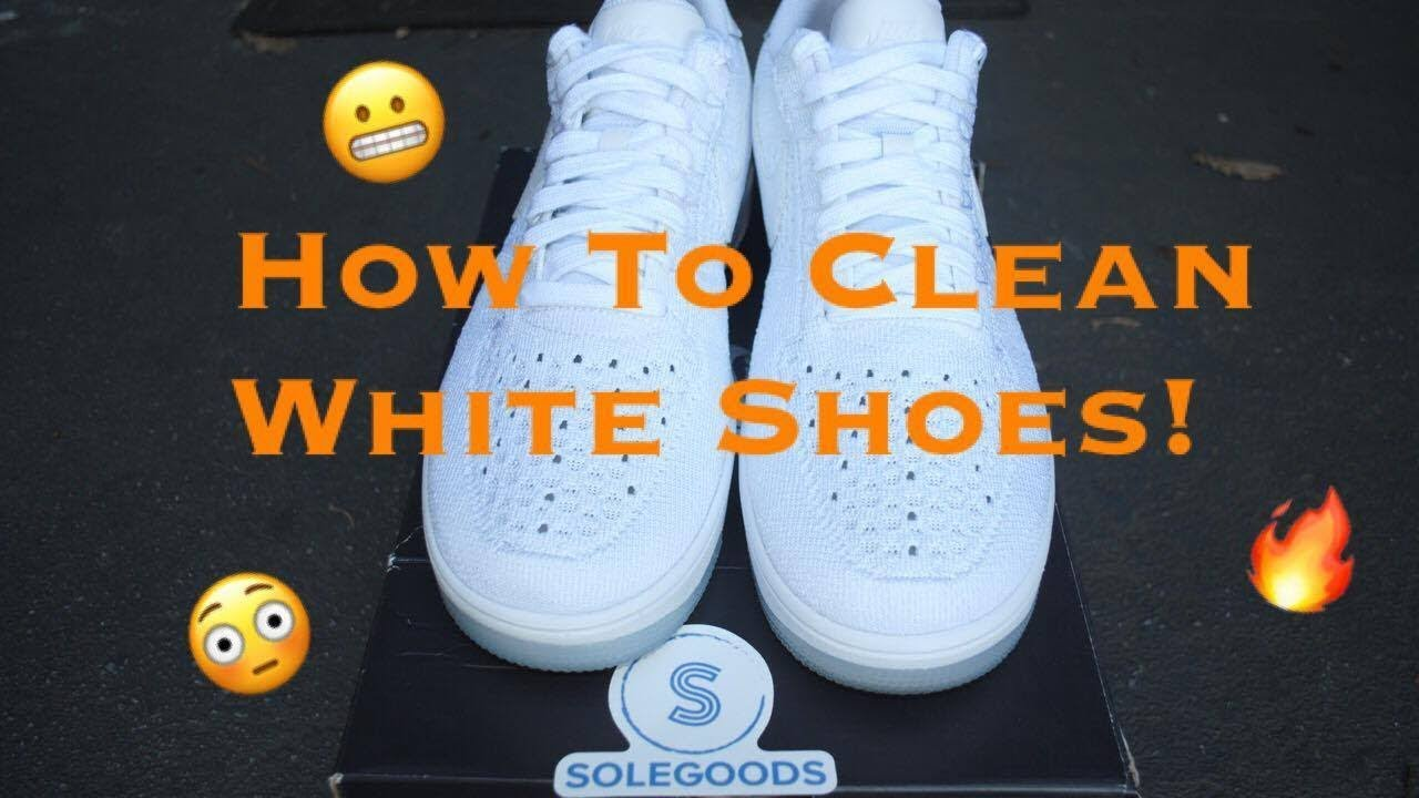 To: Clean All White Flyknit/Mesh Shoes