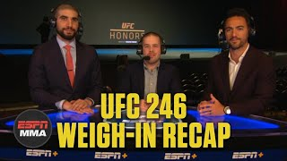 UFC 246: Conor McGregor vs. Donald Cerrone Weigh-In recap, predictions | ESPN MMA