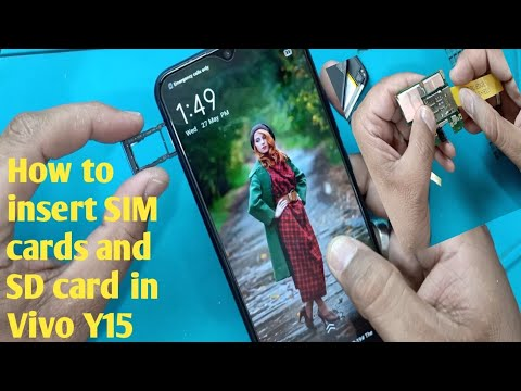 how-to-insert-sim-cards-and-sd-card-in-vivo-y15