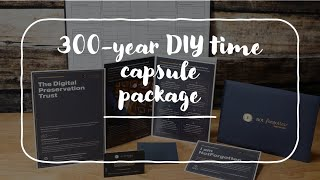 What's in the folder pack 300 year DIY NotForgotten Time Capsule