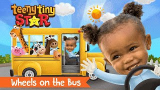 wheels on the bus go round and round song   nursery rhymes   personalized videos   teenytinystar