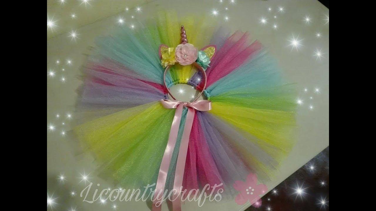 como hacer un tutu de unicornio
