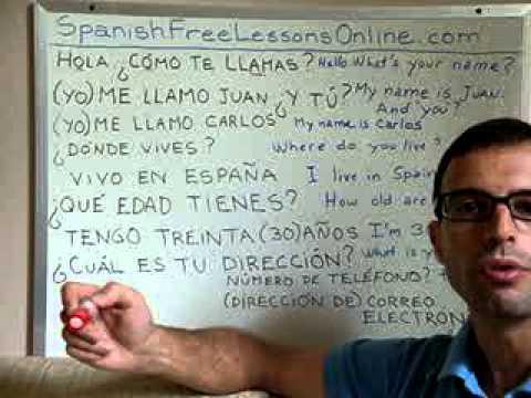 Learn Spanish 7: Useful Spanish phrases (Video 1/2)