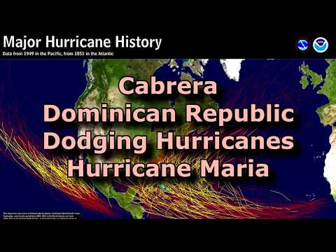 Hurricane Maria - Cabrera Dominican Republic Hoping To Dodge Another Bullet