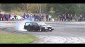 Bmw e34 M104 turbo 480whp Volvo 760 M60 turbo 600whp burnout - YouTube