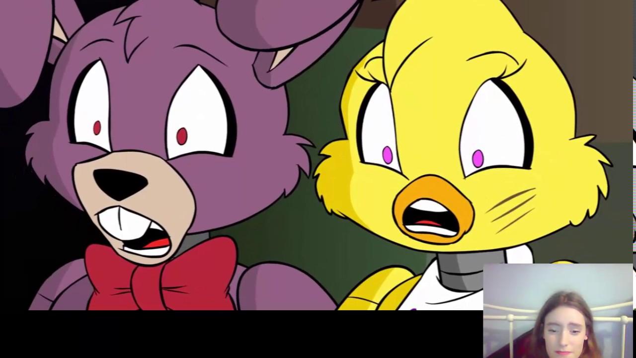 Tony Foxy: Reacting To Tony Crynight -Foxy Mangle And Chica Pt 14