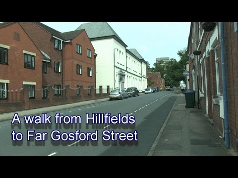 A walk from Hillfields to Far Gosford Street in Coventry.